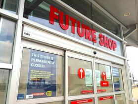 The Future Shop on St. James Street, which is closed.